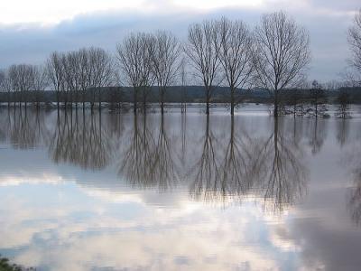 Hochwasser vor Lich